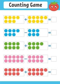 Jogo de contagem para crianças