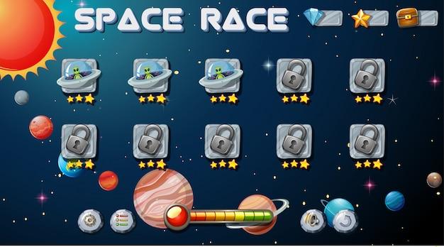Jogo de corrida espacial