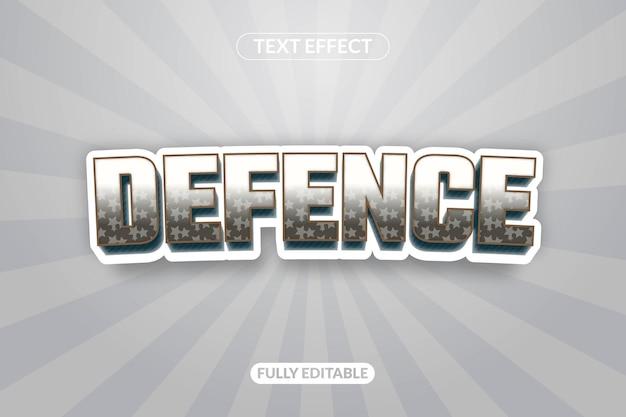 Jogo de defesa de efeito de texto