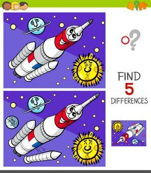 Jogo de diferenças com foguete espacial