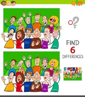 Jogo de diferenças para crianças com pessoas engraçadas