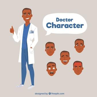 Jogo, de, diferente, doutor, caráteres