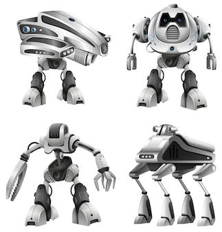 Jogo, de, diferente, robôs