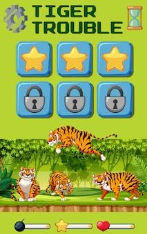 Jogo de dificuldade do tigre
