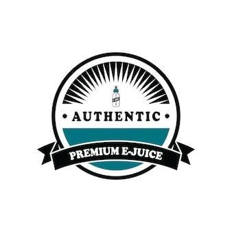 Jogo de emblema de etiqueta de líquido e cigarro e-cigarette pessoal