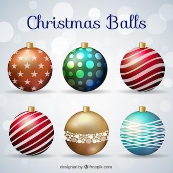 Jogo de esferas elegantes do natal