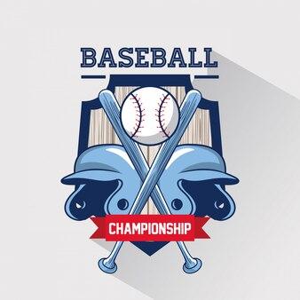 Jogo de esporte de beisebol
