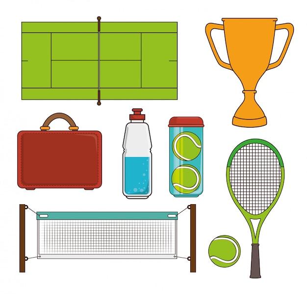 Jogo de esporte de tênis