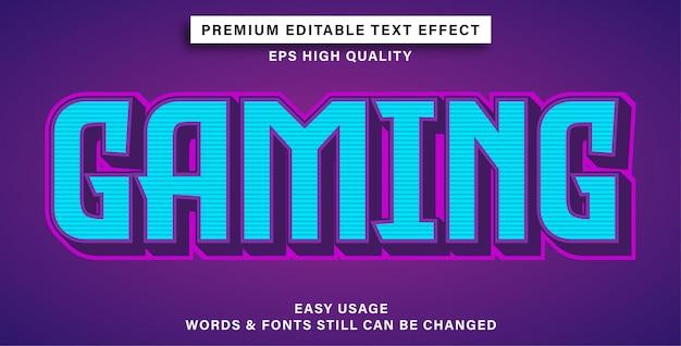 Jogo de estilo de efeito de texto editável