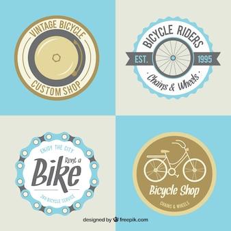 Jogo de etiquetas bonitos da bicicleta do vintage