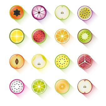 Jogo, de, fruta, ícones