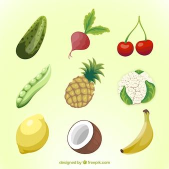 Jogo de frutas e legumes