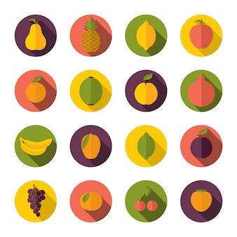 Jogo, de, frutas, ícones