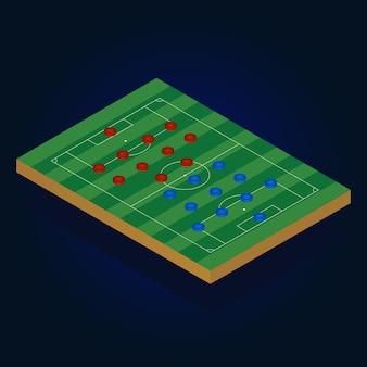 Jogo de futebol de futebol isométrico de telefone móvel