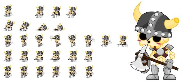 Jogo de guerreiro esqueleto sprite