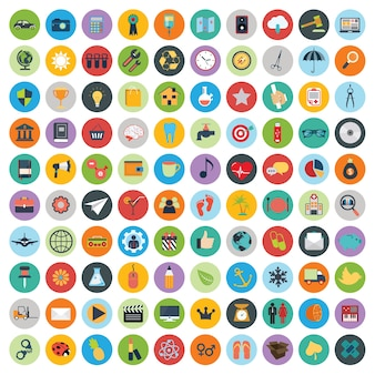 Jogo de ícones de desenvolvimento web e tecnologia