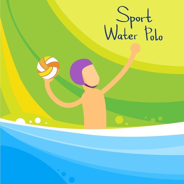 Jogo de jogador de pólo aquático sport competition