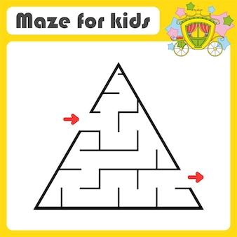 Jogo de labirinto abstrato para crianças