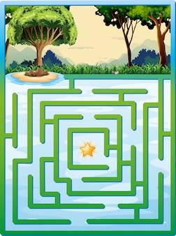 Jogo de labirinto com a natureza
