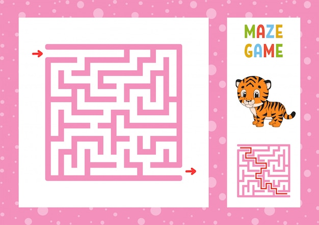 Jogo de labirinto engraçado