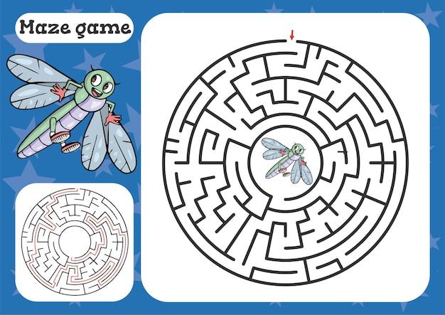 Jogo de labirinto para crianças planilha de desenho bonito