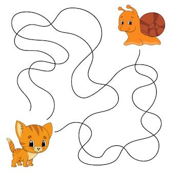 Jogo de labirinto para crianças