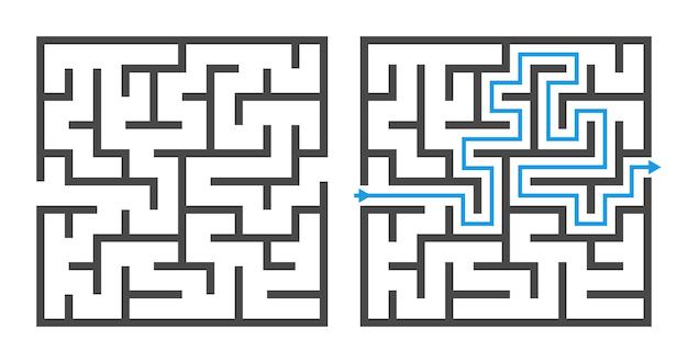 Jogo de labirinto Vetor Premium
