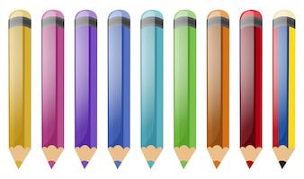 Jogo, de, lápis cor