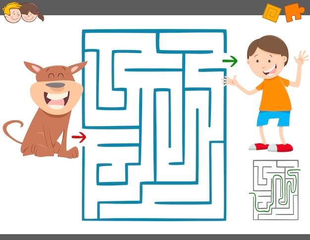Jogo de lazer labirinto para crianças
