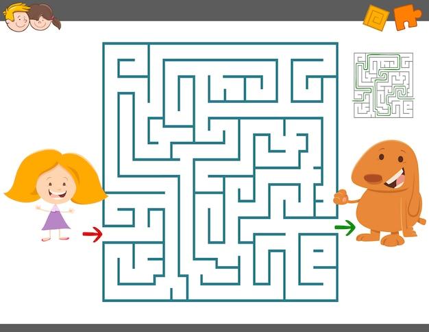 Jogo de lazer labirinto