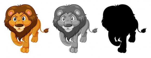 Jogo, de, leão, personagem