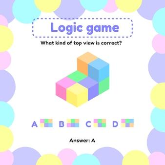 Jogo de lógica para crianças em idade pré-escolar e escolar.