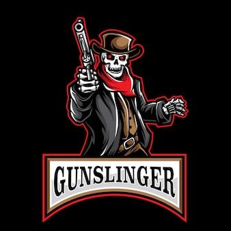 Jogo de logotipo gunslinger