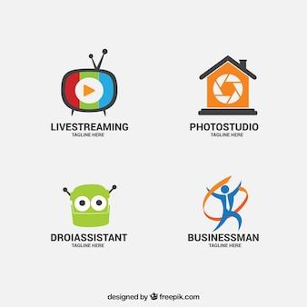 Jogo de logotipos criativo