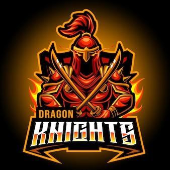 Jogo de logotipos sparta knight mascot esport