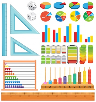 Jogo, de, matemática, elemento