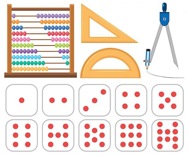 Jogo, de, matemática, equipamentos