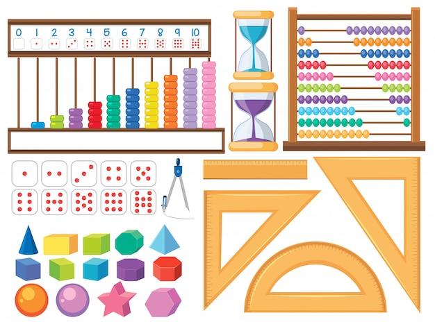 Jogo, de, matemática, objeto