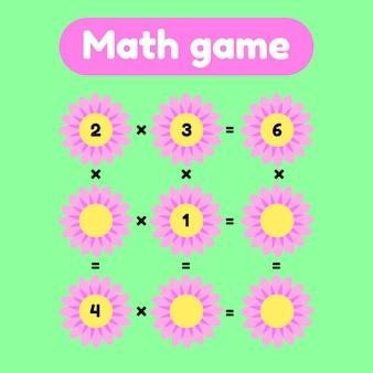 Jogo de matemática para crianças em idade pré-escolar e escolar.