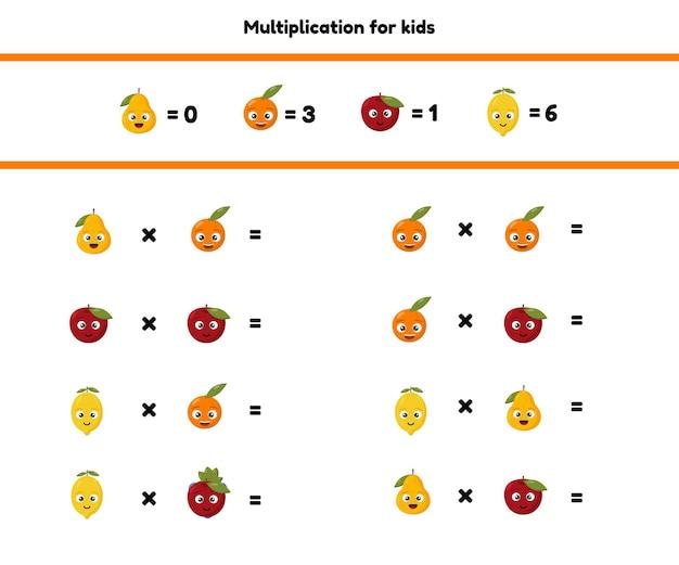 Jogo de matemática para crianças em idade pré-escolar e escolar