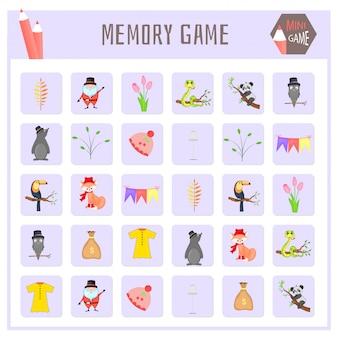 Jogo de memória para crianças