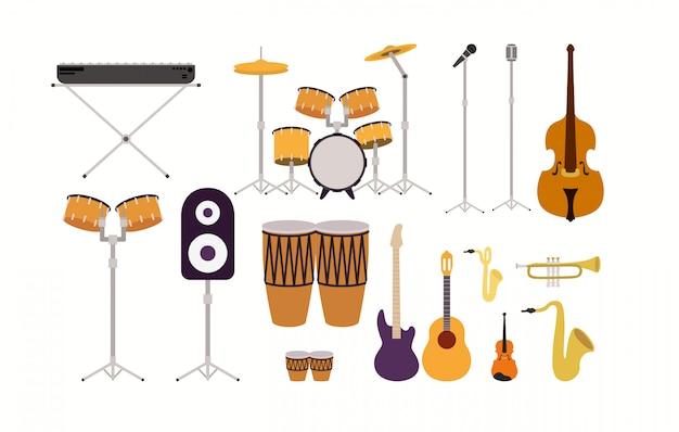 Jogo, de, musical, instrumentos