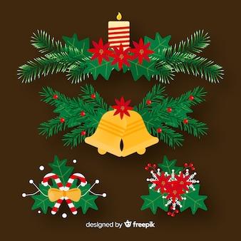 Jogo, de, natal, decorações