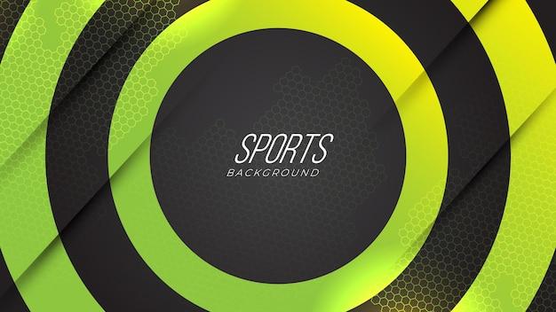 Jogo de néon esportivo moderno abstrato com gradiente de formas geométricas