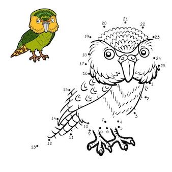 Jogo de números, jogo de educação ponto a ponto para crianças, kakapo