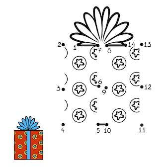 Jogo de números, jogo de educação ponto a ponto para crianças, presente de natal