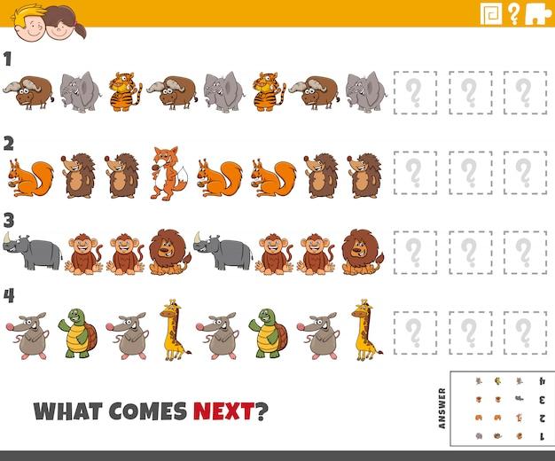 Jogo de padrão educacional para crianças com animais