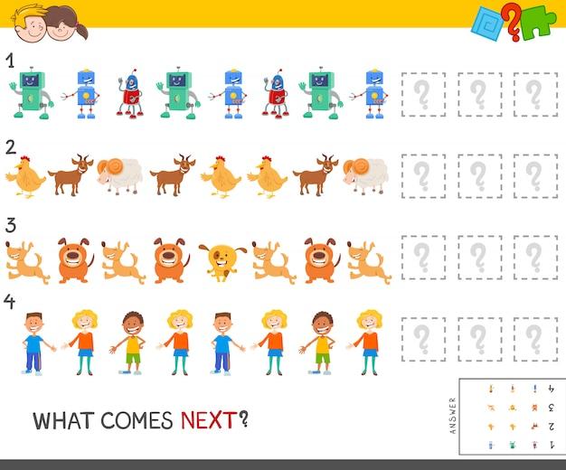 Jogo de padrão educacional para crianças