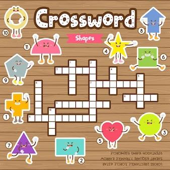 Jogo de palavras cruzadas de formas