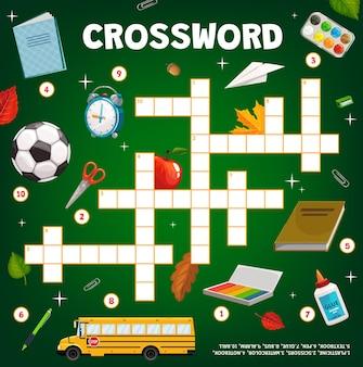 Jogo de palavras cruzadas, papelaria para educação escolar